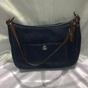 Coach Blue Leather Chelsea Shoulder Bag